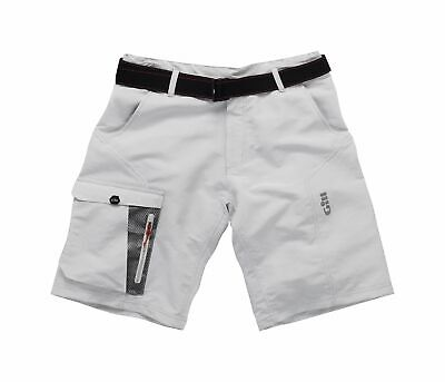 GILL Herren Shorts Race Segelshorts kurze Hose 50+ UV-Schutz Größe:32-40 Silber