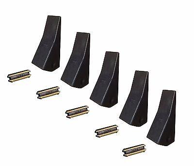 5 Backhoe Skid Mini Ex Bucket Teeth W Pins - 23 230 230sp D51750 Tf23d