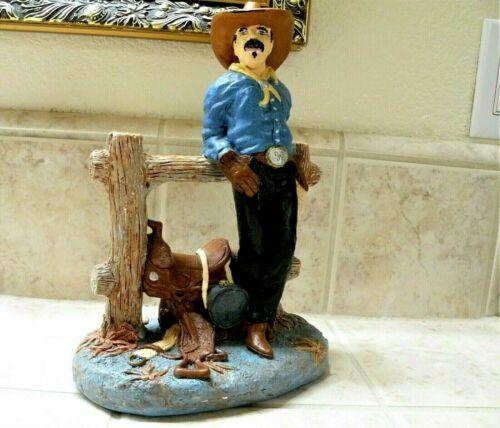 ***CLEARANCE SALE***     Ceramic Cowboy & Saddle Figurine WESTERN DECOR Box 95