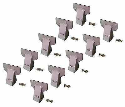 10 - Backhoe Mini Excavator Bucket Flare Teeth W Pins - 23f 230f 23pn
