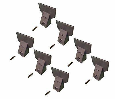 7 - Hensley Style Backhoe Mini Excavator Bucket Flare Teeth W Pins - X156f