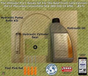 04-11 Mercedes SLK Convertible Hydraulic Cylinder Repair Kit & More...R171