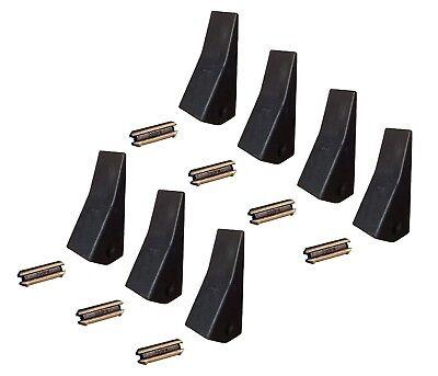 7 Backhoe Skid Mini Ex Bucket Teeth W Pins - 23 230 230sp D51750 Tf23d
