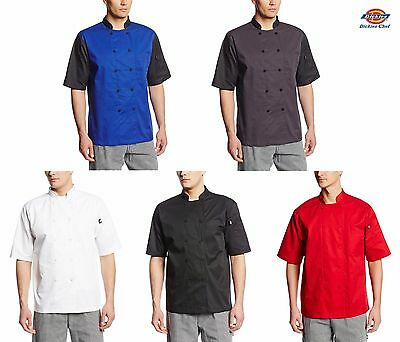 Dickies Lightweight Cool Breeze Chef Coat Short Sleeve W Mesh Vent Inlay Dc105
