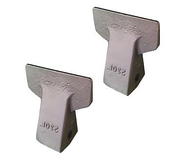 2 - Backhoe Mini Excavator Bucket Flare Tooth - 23f 230f
