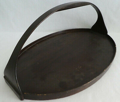Vintage Antique Wood Handled Tray 21