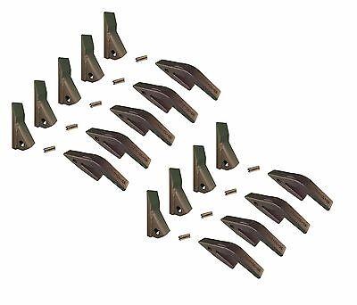 9 - Mini Excavator Backhoe Skidsteer Weld On Shanks 23hd Fab Teeth W Pins