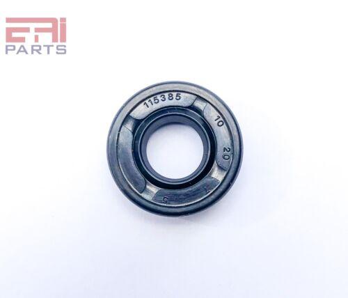 Oil Shaft Seal 10X20X7mm TC  EAI Double Lip w/ Spring. Metal Case w/ NBR Coating