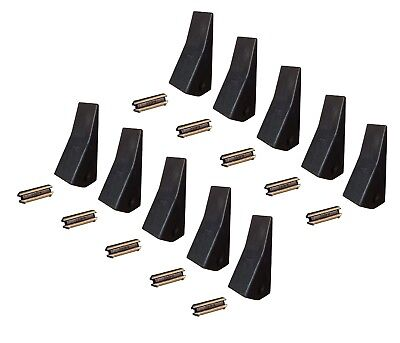 10 Backhoe Skid Mini Ex Bucket Teeth W Pins - 23 230 230sp D51750 Tf23d