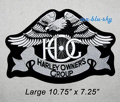 Genuine Large Silver Heritage Eagle Patch ~ Harley Davidson Owners Group HOG