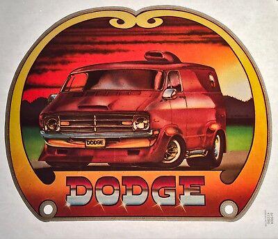 VTG Van 70s Dodge Ram vanning Custom Street Vans Macho Wagon NOS T-shirt iron-on Dodge Ram Van Wagon