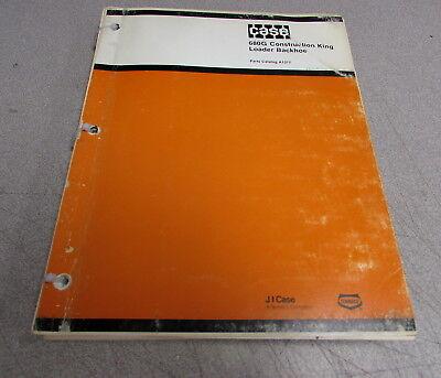 Case 680g Construction King Loader Backhoe Parts Catalog Manual A1377 1979