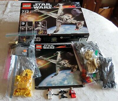 Lego 6208 Star Wars B-Wing Fighter, Used, Complete w/ Instructions & Box