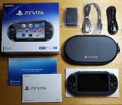 Playstation Vita 2000 PS Vita Slim BLACK + Extras *READ DESCRIPTION BEFORE BUY*