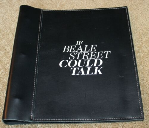 IF BEALE STREET COULD TALK MOVIE HAND SIGNED SCRIPT FYC BEST SCREENPLAY LEATHER