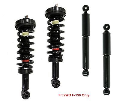 Full Set 2 Complete Quick Front Struts 2 Rear Shocks Fits F150 RWD - Lifetime W