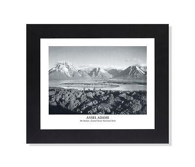 Ansel Adams Black And White - Ansel Adams B/W Photo Mt Moran Grand Teton Park Wall Picture Black Framed