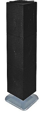 Styrene Interlocking Pegboard Display In Black 14w X 14d X 60h Inches With Base