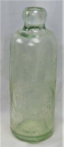 Antique…'STROUDSBURG BREWING CO. STROUDSBURG, PA' Hutchinson blob beer bottle