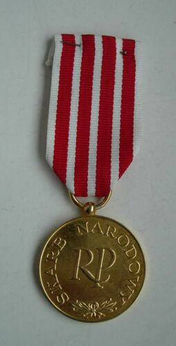 POLISH POLAND FORCES IN EXILE, NATIONAL TREASURE MEDAL, GILDING