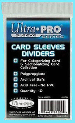 Index Card Storage (10 ULTRA PRO Trading CARD Sleeve DIVIDERS storage box 81229 Index White)