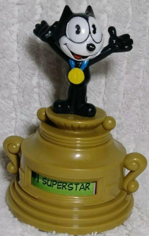 "Felix the Cat Figure Trophy Medal 3.5"" Figurine Toy PVC RARE Collectible Vintage"