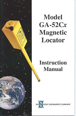 Schonstedt Ga-52cx Magnetic Locator Instruction Manual