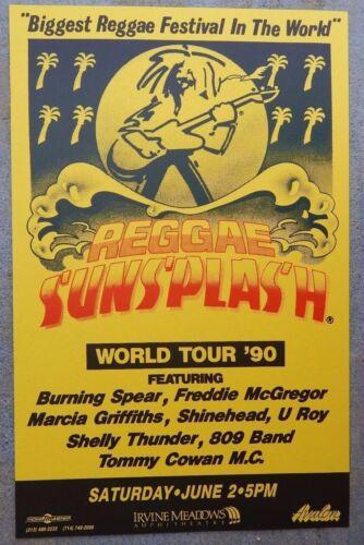 Reggae Sun Splash Festival 1990 Original 11x17 Concert Poster Freddie McGregor