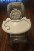 STEELCRAFT MESSINA HI LO HIGHCHAIR feeding chair - SILVER Aspendale Gardens Kingston Area Preview
