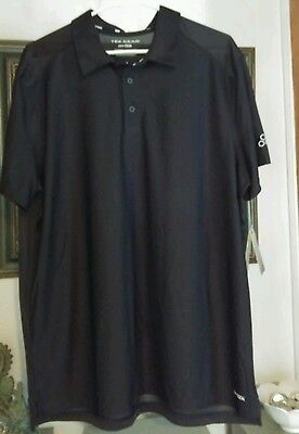 """TEK GEAR""   BLACK GOLF SHIRT   SIZE LARGE   NEW WITH TAGS"