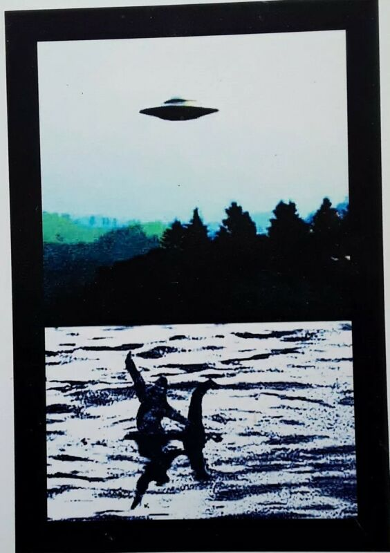 Fridge Magnet: ♡ WARNING ♡ - UFO- Bigfoot & Nessie Magnet