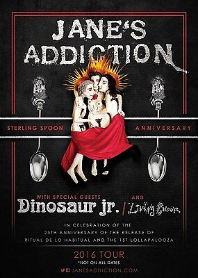 "JANE'S ADDICTION /DINOSAUR JR. ""STERLING SPOON ANNIV. 2016 TOUR"" CONCERT POSTER"
