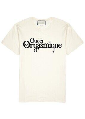 GG Orgasmique Logo T-Shirt. Ivory. Size M
