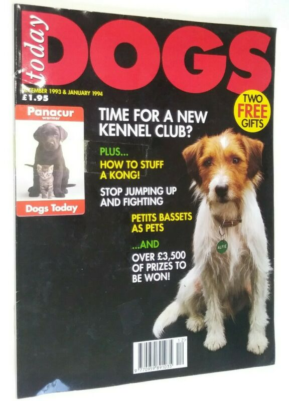 Dogs Today Magazine Mixed Breed Cover + Petite Basset Article Dec 93/Jan 94