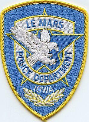 LE MARS IOWA IA POLICE PATCH