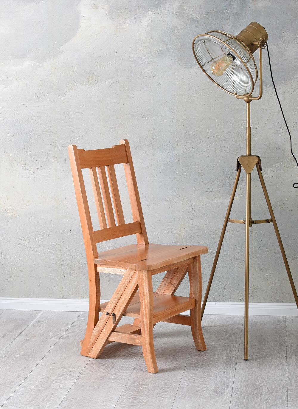Step Stool Director Chair Solid Wood Bibliotheksstuhl Chair/