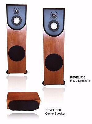 (Revel - World's finest 2.1 System, (2)F30 Floor Speakers  (1) C30 Center Speaker)