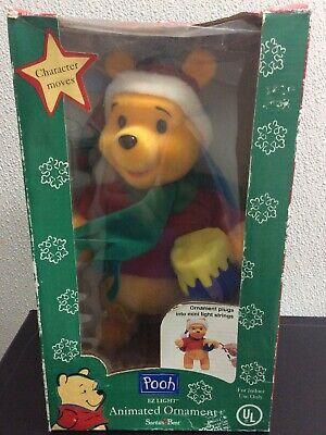 """11"""" Santas Best EZ Light Winnie the Pooh Santa Animated Christmas Tree Ornament"""