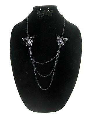 One Dozen New Wholesale Butterfly Necklace & Earring Sets #N2506-12