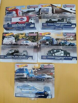 2019 Hot Wheels Car Culture Team Transport Set of 5 Cars #11 #12 #13 #14 #15