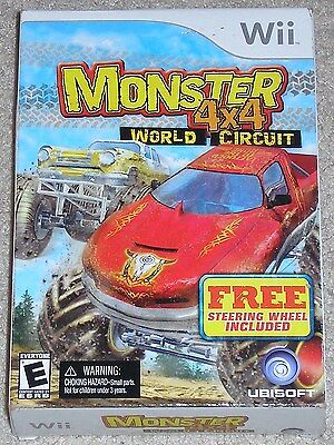 Nintendo Wii Monster 4 X 4 World Circuit (new) W/ Wheel