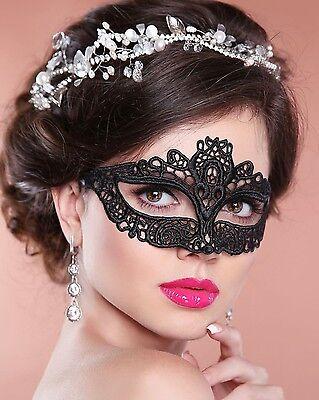 Black Lace Masquerade Mask Amelia NEXT DAY DELIVERY to Aust - Next Day Delivery Masquerade Masks
