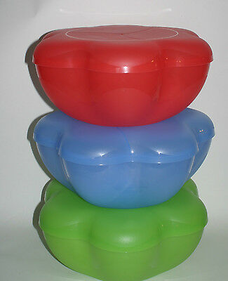 Tupperware Chip N Dip Salad Punch Serving Bowl Appetizer Tray Scallop Design New (Scallop Salad Bowl)