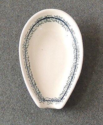 (Boleslawiec Pottery Poland Stoneware Spoon Rest EUC)