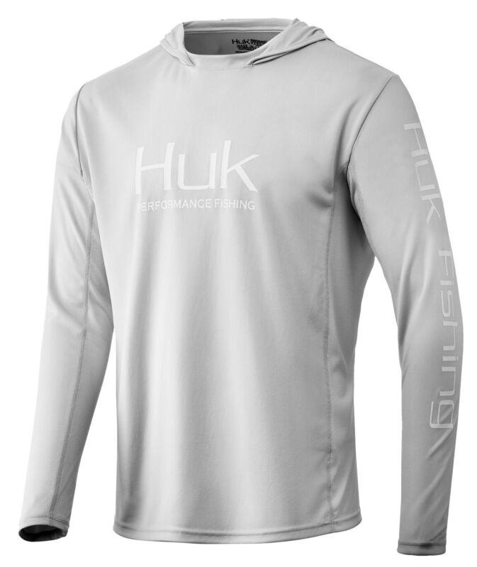 HUK Icon X Hoodie-NWT-Lt Grey-medium