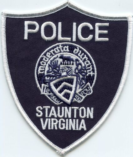 STAUNTON VIRGINIA VA POLICE PATCH