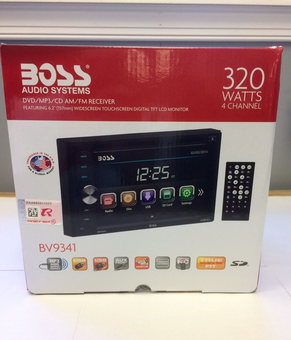 $74.99 - Boss BV9341 Double DIN DVD/CD/AM/FM/Digital Media Car Stereo Receiver NEW
