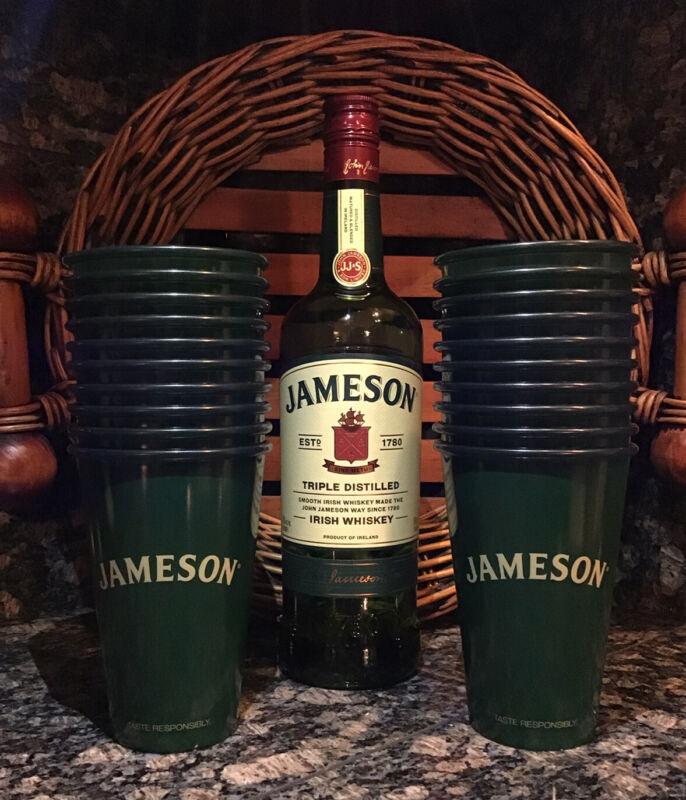 JAMESON Irish Whiskey Set of (20) Reusable 12 oz. Plastic Cups NEW!