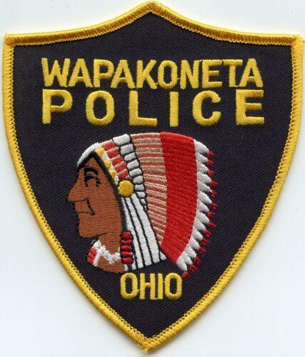 WAPAKONETA OHIO OH Indian POLICE PATCH