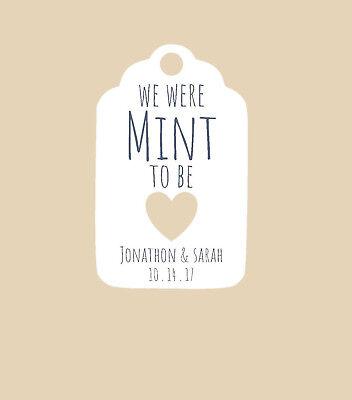 Personalized Wedding or bridal shower favor tags- We were MINT to be!](Personalized Wedding Mints)
